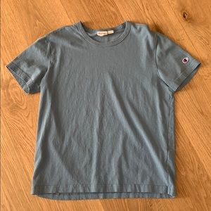 Blue plain champion t shirt